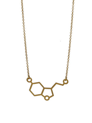 Short hexagon necklace geometric necklace golden honeycomb pendant molecular necklace graphic minimal jewelry