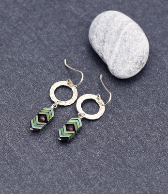 Sterling silver devil eye earrings