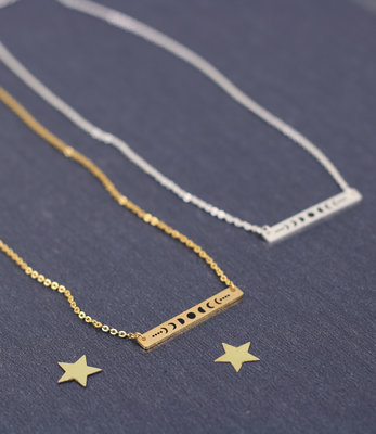 Short Moon phase necklace