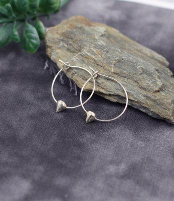 Sterling silver hoops earrings