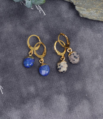 Mini hoops with stones