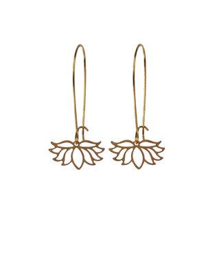 Geometric flowers earrings, dangle minimalist earrings, graphic jewelry