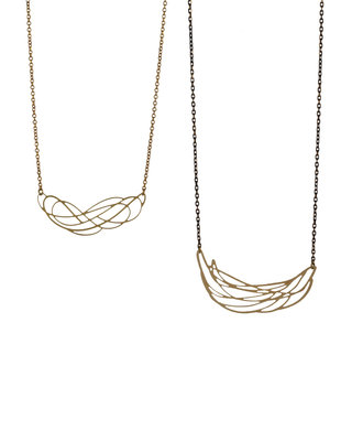 Graphic art nouveau necklace