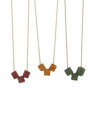 Cubic long necklace