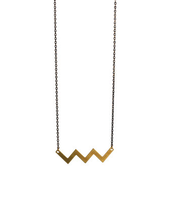 Long zigzag necklace