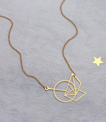 Shapes short necklace