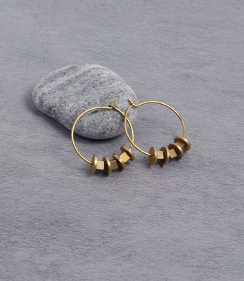 Matt gold hoop earrings