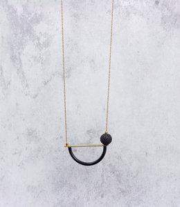 Long semi-circle tube necklace