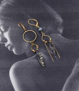 Mismatched boho Shells earrings