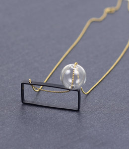 Long Bubble rectangular necklace