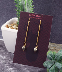 Pyrite sticks earrings posts