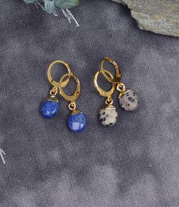 Mini hoops with stones