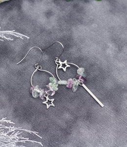 Stars mismatched earrings