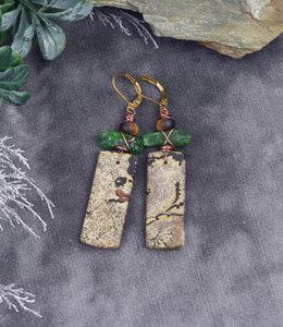 Earthy green earrings