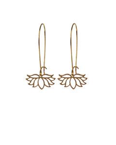 Geometric Flowers Earrings Dangle Minimalist Graphic Jewelry