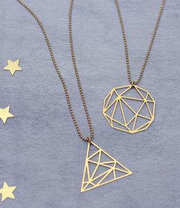 Graphic pendant geometric necklace