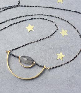 Long geometric Balance necklace