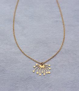 Lotus short necklace