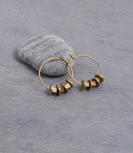Matt gold hoop earrings